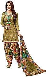 Begum Riwaaz Women's Georgette Unstitched Dress Material (18005B, Green)