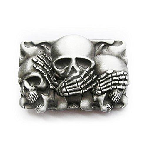 eeddoor-gurtelschnalle-die-drei-skulls-nichts-sagen-horen-sprechen-buckle-fur-wechselgurtel-damen-he