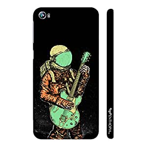 Micromax Canvas Fire 4 A107 Astronaut Guitar designer mobile hard shell case by Enthopia