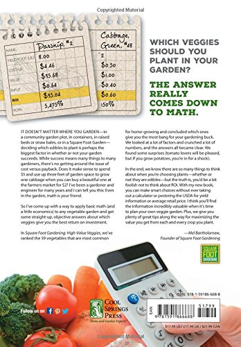 Square Foot Gardening High Value Veggies Homegrown Produce Ranked By Value All New Square Foot