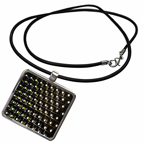 3dRose Florene Food and Beverage - Wine Cellar With Rows Of Wine Bottles - Necklace With Rectangle Pendant (ncl_48164_1) (Beverage Cellar compare prices)