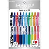 ゼブラ 水性ボールペン サラサクリップ 0.5 10色 P-JJ15-10C