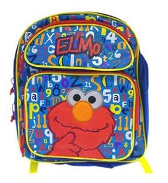 Sesame Street Elmo Red Medium Backpack Bag Tote