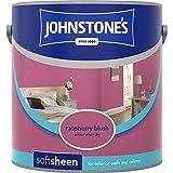 Johnstones No Ordinary Paint Water Based Interior Soft Sheen Emulsion Raspberry Blush 2.5 Litre