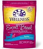 Wellness Complete Health Natural Dry Dog Food, Small Breed Senior Health Turkey & Peas Recipe, 4-Pound Bag