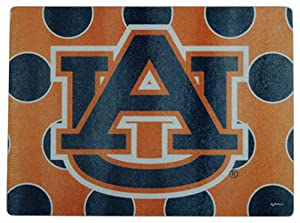 Buy NCAA Auburn Tigers Cutting Board with Polka Dots and Team Logo by Game Day Outfitters