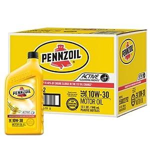 Pennzoil 550022792 12pk 10w 30 Motor Oil 1
