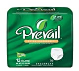 Prevail Extra Absorbency Underwear, 2XL, 12-Count (Pack of 4)