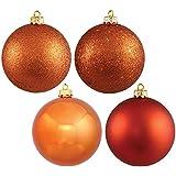 "Vickerman 6"" Burnish Orange 4 Finish Ball Ornament 4 per Box"