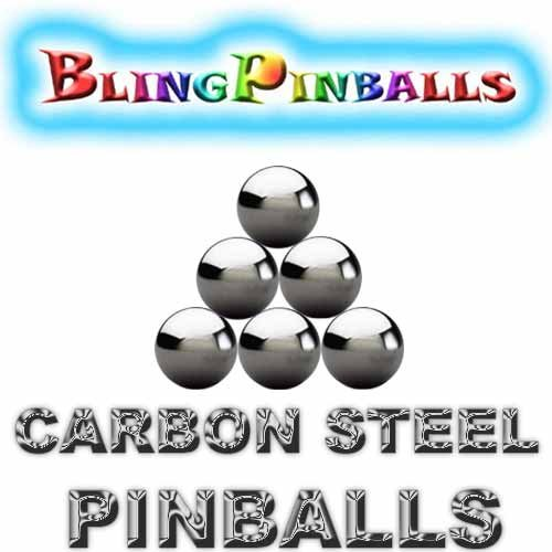 6 carbon steel premium Bling mirror finish pinballs (Pack of 6) - 1
