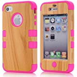 Body Armor Defender Case for iPhone 4/4S - Purple and White