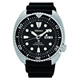 Seiko Men's Automatic Diver Watch with Black Silicone Strap (Color: black)