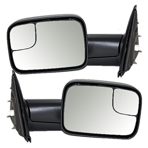 Driver and Passenger Power Side Trailer Tow Flip-Up Mirrors Heated Replacement for Dodge 7x10 Pickup Truck 55077445AO 55077444AO (Tow Mirrors For Dodge Ram 1500 compare prices)