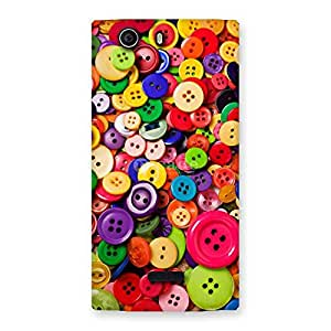 Delighted Button Lot Print Back Case Cover for Canvas Nitro 2 E311