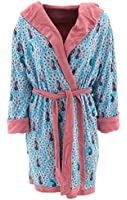 Munki Munki Women's Peacocks Pink Reversible Bathrobe