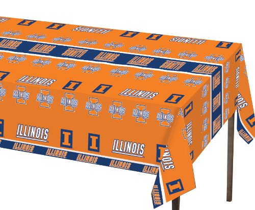 Creative Converting Illinois Fighting Illini Plastic Banquet Table Cover