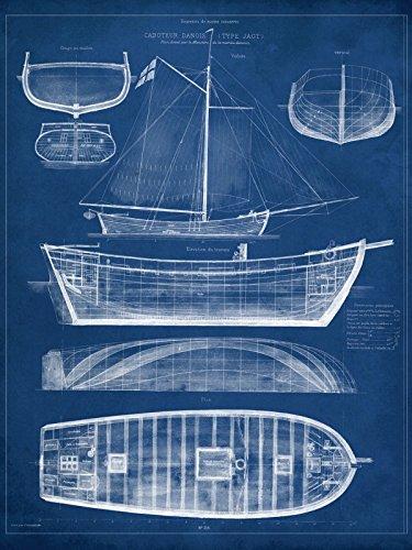 Poster-Kunstdruck-oder-Leinwand-Bild-Artland-Wandbild-fertig-aufgespannt-auf-Keilrahmen-Vision-Studio-Entwurf-fr-ein-Antikes-Schiff-II-in-verschiedenen-Gren-erhltlich