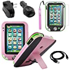 BIRUGEAR Pink Leather Stand Case with Stylus