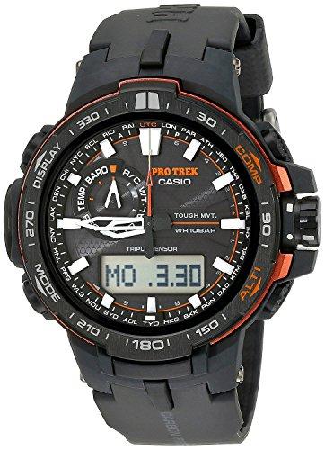 [カシオ]CASIO 腕時計 PROTREK プロトレック PRW-6000Y-1 ブラック×オレンジ メンズ [逆輸入モデル]