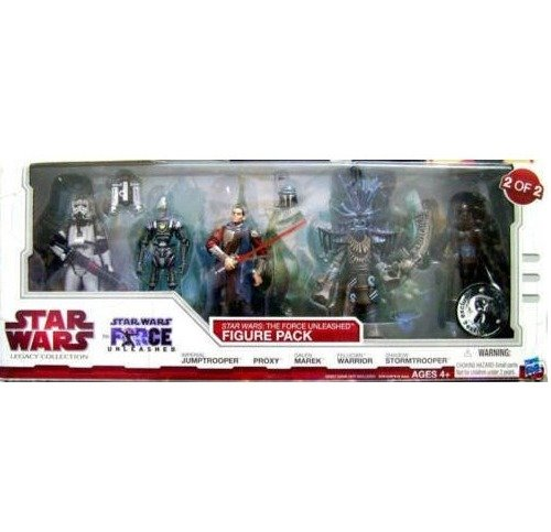 Buy Low Price Hasbro Star Wars 2010 Legacy Collection Exclusive Force Unleashed Action Figure 5Pack #2 Imperial Jumptrooper, Proxy, Galen Marek, Felucian Warrior & Shadow Stormtrooper (B003JJZVC6)