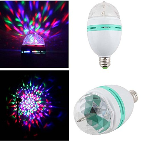 Home Partical E27 Full Color Rotating 3 Led Party Lamp Bulb 3W Rgb Projection Lamp Stage Light