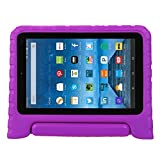 Fire 7 case,Fire 7 2015 Case,TRAVELLOR®Kids Shock Proof Convertible Handle Light Weight Super Protective Stand Cover for Amazon Fire Tablet (7 inch Display, 2015 Release Only)(Purple)