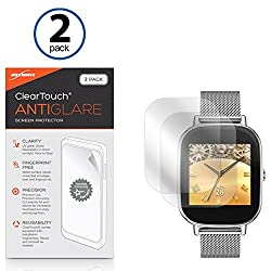 ASUS ZenWatch 2 (45mm) Screen Protector, BoxWave [ClearTouch Anti-Glare (2-Pack)] Anti-Fingerprint Matte Film Skin for ASUS ZenWatch 2 (45mm)