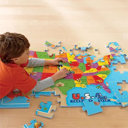 Cheap EI Maps Giant USA Map Foam Puzzle Water Resistant Fun-to-Assemble (B005HY05GS)
