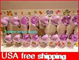 (Ship From Usa) Heart Purple Elastic Scrunchies Jumbo Bead Hair Tie Girl Ball Ponytail Holders *Jfo468 Uh11756