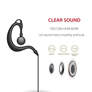 BESTFACE Earpiece Headset Mic Overhead Headset Compatible with Baofeng UV 5R/5RA/5RA+/5RB/5RC/5RD/5RE/5RE+ 666s 777s 888s Two-Way Radio (1 Pack) (Color: 1pcs)