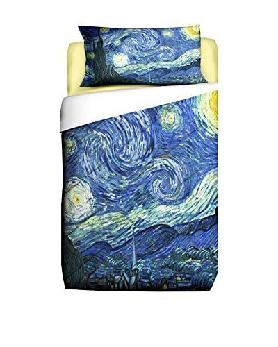 Tele d'autore by MANIFATTURE COTONIERE Steppdecke Van Gogh Notte Stellata blau