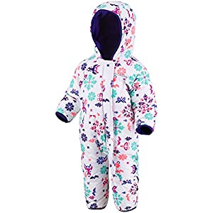 Columbia Snuggly Bunny Bunting Toddler Snowsuit 12-18 Months White Animal Print