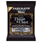 Jakemans Minis Throat & Chest Soothing Menthol Sweets 25g (Pack of 10)