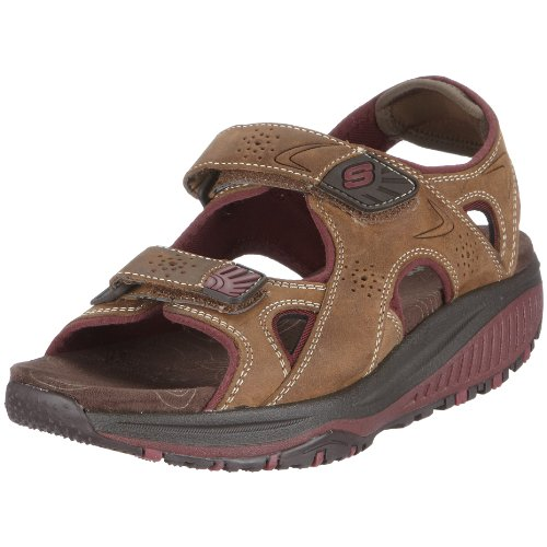Skechers Women's Shape-ups Roll Model Sandal Brown UK 5