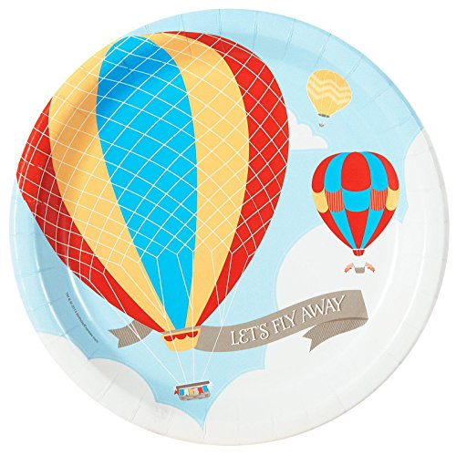 Hot Air Balloon Party Up, Up and Away Dinner Plates (8) - 1
