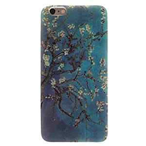 iPhone 6 Case, Wandeneng iPhone 6 (4.7 Inch) Case - Fashion Style Colorful Painted Colorful TPU Case Back Cover Protector Skin For iPhone 6 4.7Inch (Apricot tree)