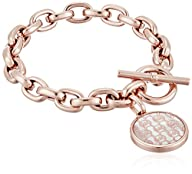 "Michael Kors ""Logo"" Rose Gold-Tone an…"
