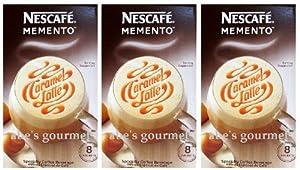 Nescafe Memento: Caramel Latte (3 Pack) 6.4 oz Boxes