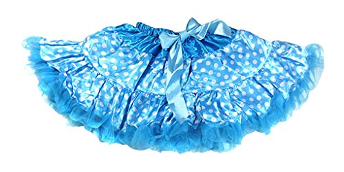[Dancina Baby Girls' Little Dancer Tutu Polka Dots Ballet Satin 1 to 3 years blue w white] (Baby Megamind Costume)