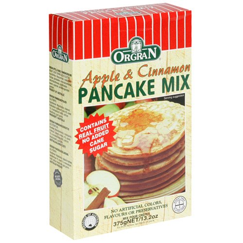OrgraN Apple & Cinnamon Pancake Mix, 13.2-Ounce Boxes (Pack of 8)