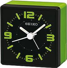 Comprar Seiko QHE091M - Reloj despertador de mesa (analógico), color verde