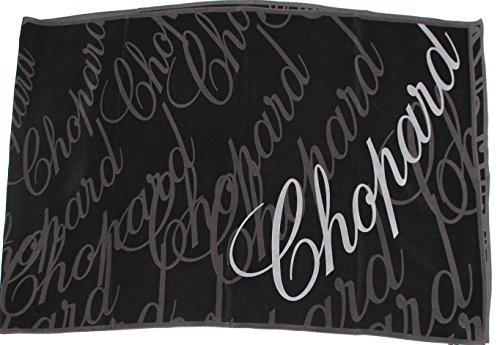 chopard-schwarzer-seidenschal-60-x-186cm-mit-schriftzug-seidentuch-scarf
