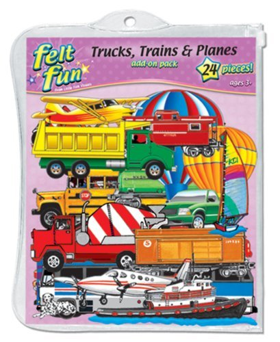 Trucks, Trains & Planes Pre-Cut Feltboard Set Toy, Kids, Play, Children front-693661