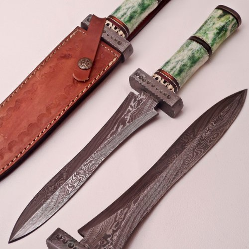Custom Hand Made Damascus Steel Dagger Knife By Knifeshop (Jl-106)