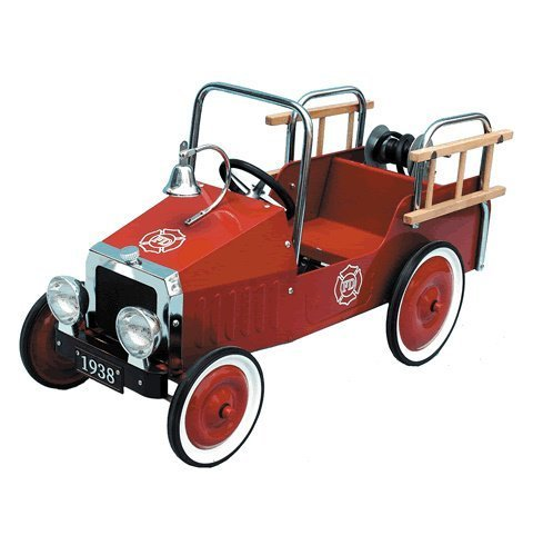 Great Gizmos Fire Engine Classic Pedal Car