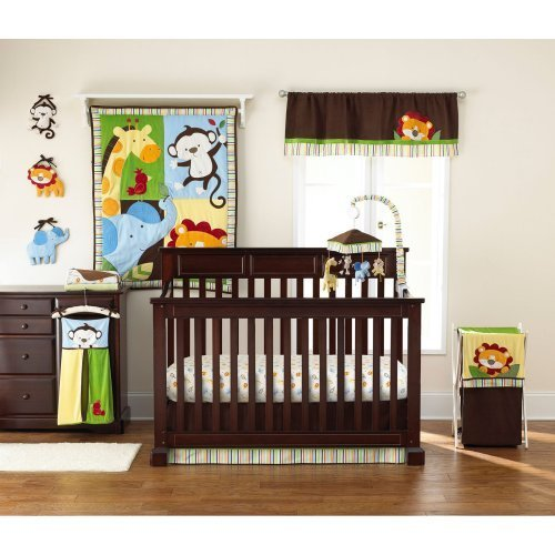 Jungle Crib Bedding 8826 back