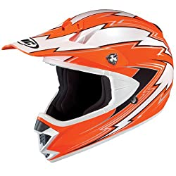 HJC Kane Men's CL-X5N Off-Road/Dirt Bike Motorcycle Helmet - MC-6 Flourescent Orange/White/Black