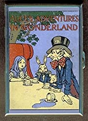 Alice in Wonderland Mad Hatter Tea Party Stainless Steel ID or Cigarettes Case (King Size or 100mm)