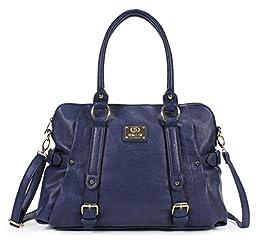 Scarleton Medium Belt Accent Tote Bag H126419 - Navy