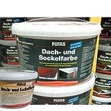 Pufas Dachfarbe und Sockelfarbe Ziegelrot 917 - 5 Liter